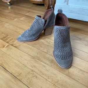 Jeffrey Campbell Leather Taupe Booties